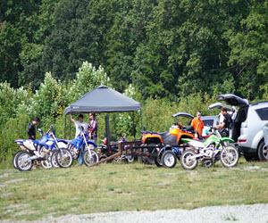 dirt bike riding at Jibtopia Wake Park